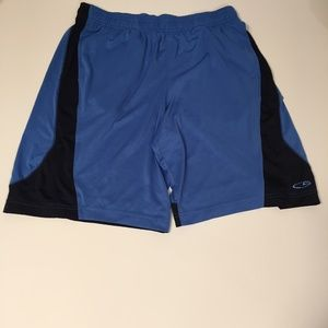 Men's Champion Two-Tone Blue Athletic Shorts, M
